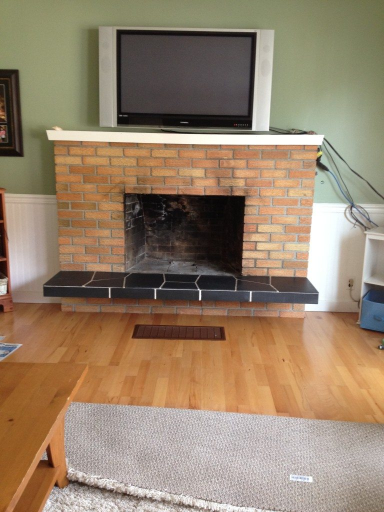 How To Update Brick Fireplace