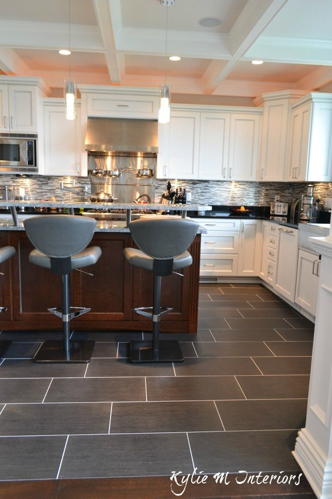 Beautiful Kitchen 12 X 24 Porcelain Tile Floor