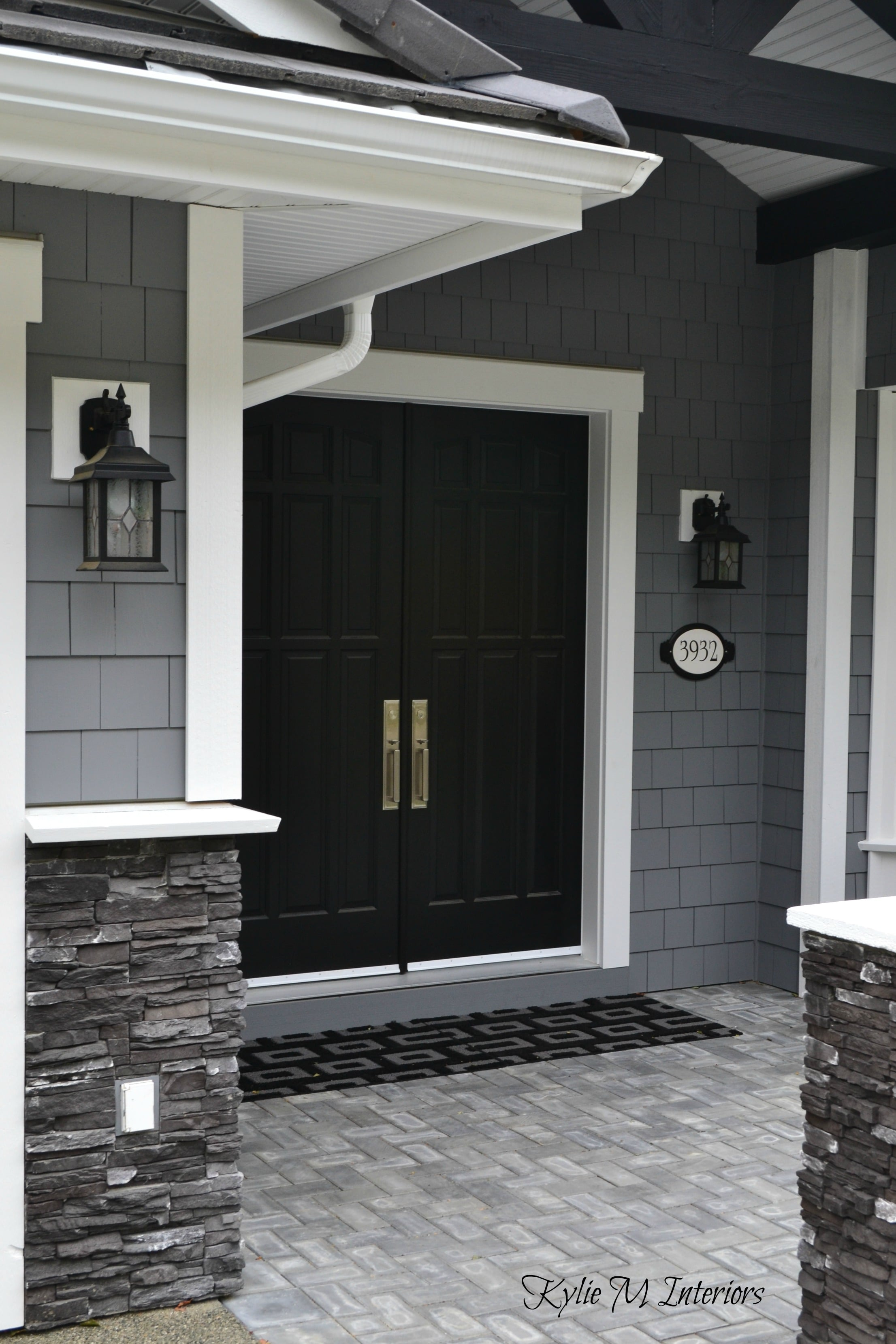 Gray and white home marble dark wood and more - What type of wood for exterior trim ...