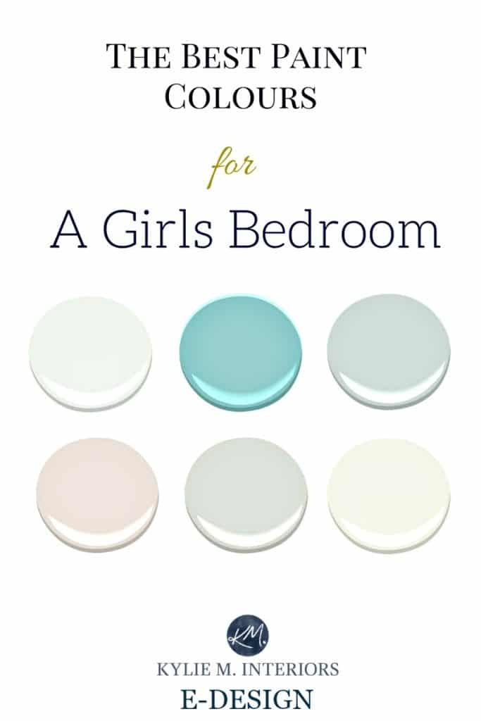Delicieux The Best Benjamin Moore Paint Colours And Accent Palettes For Girls Bedroom,  Nursery Or Tween