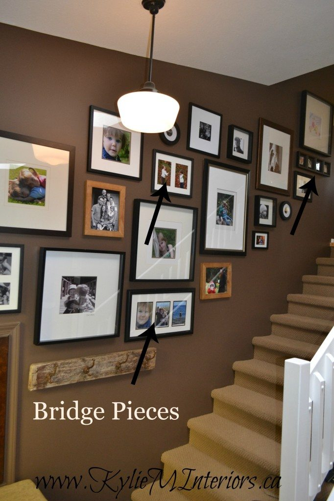 Picture Frames On The Wall Stairs Layout Display Ideas