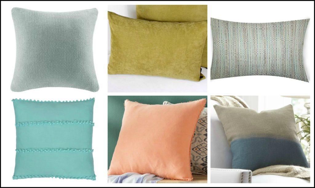 How to mix and match toss cushions step 3. Kylie M Interiors