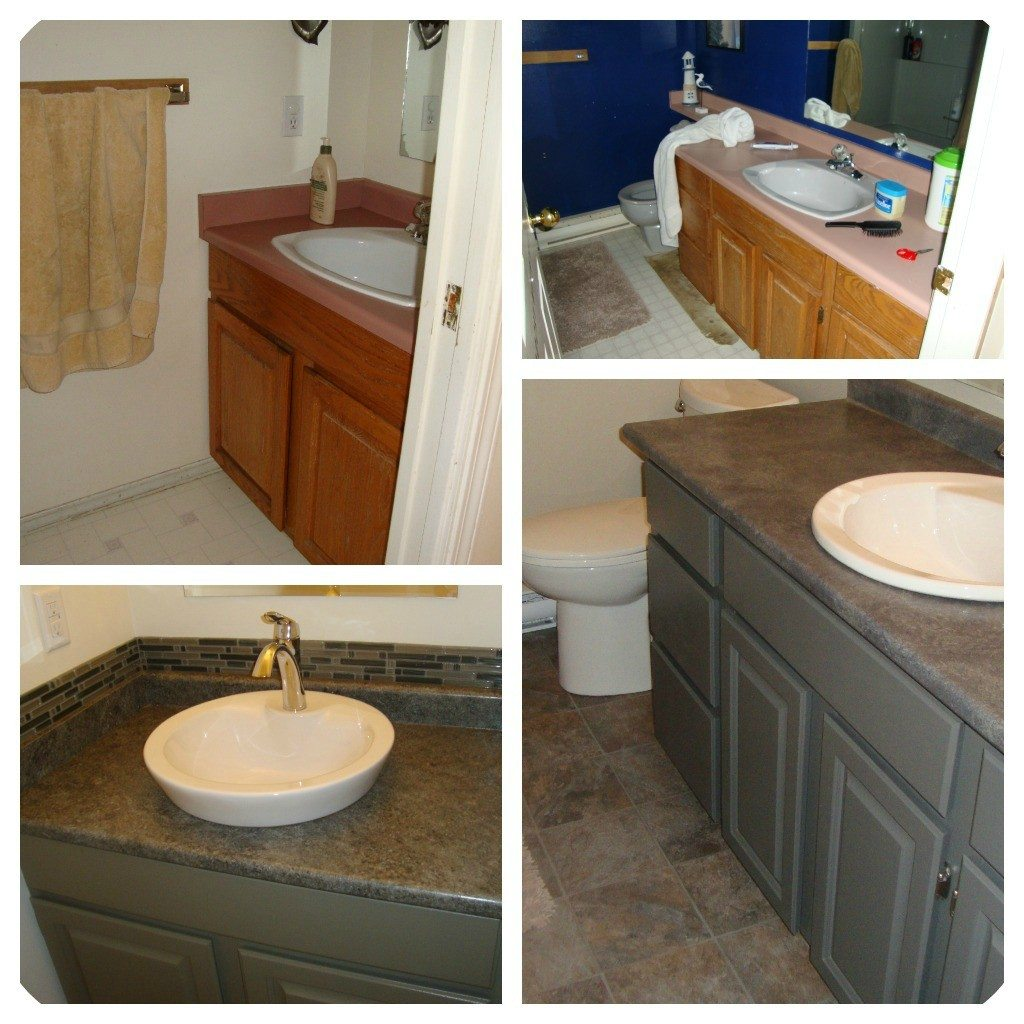 Painted bathroom oak cabinets - Bathroom paint colors with oak cabinets ...