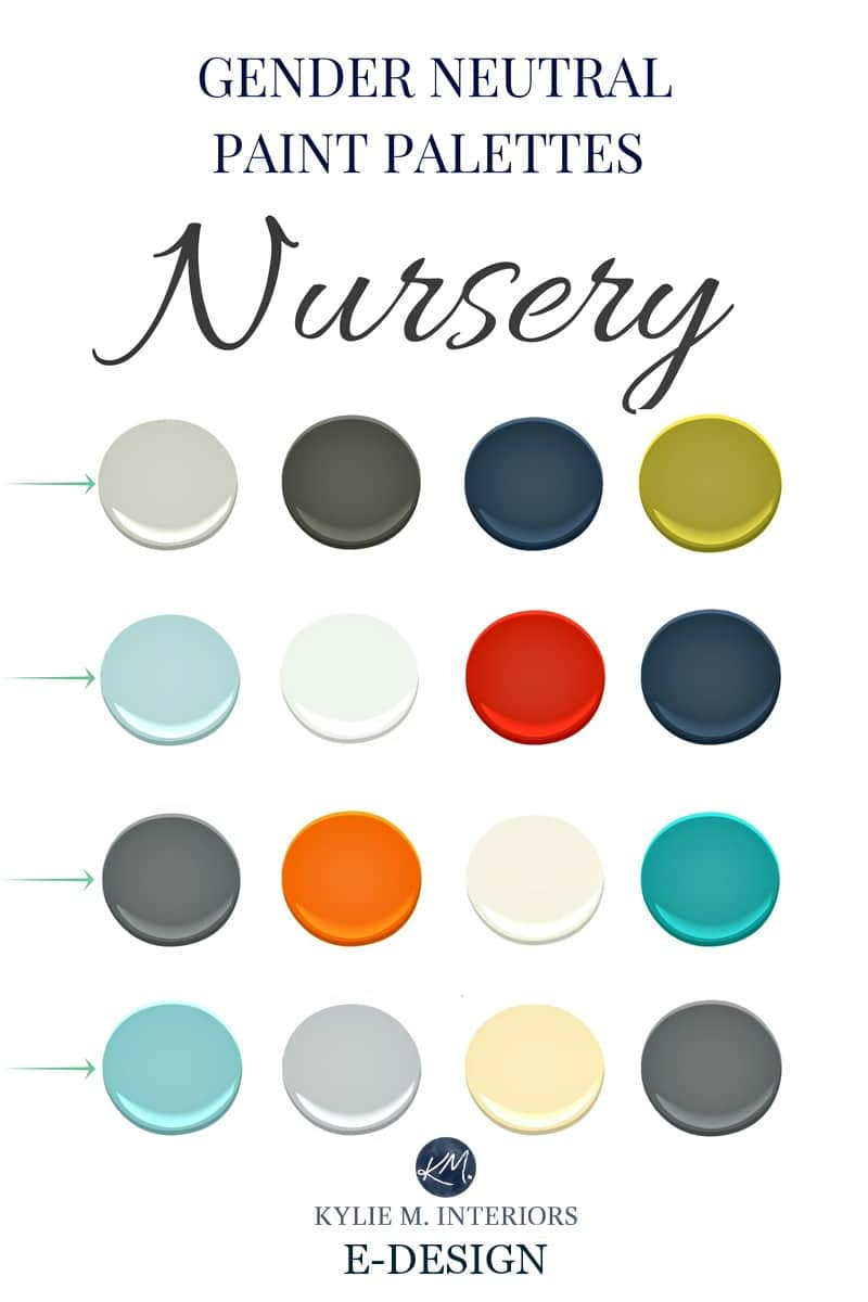 GENDER NEUTRAL PAINT PALETTES FOR A NURSERY, Walls And Accents.Kylie M  INteriors For Boy, Girl, Twins