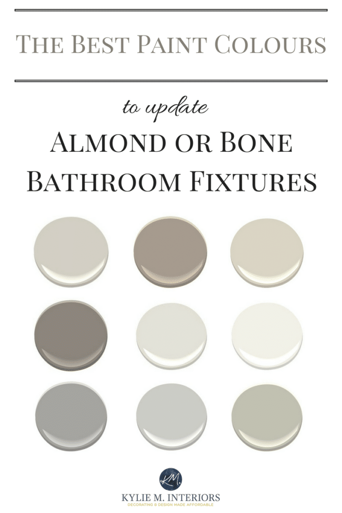 The Best Paint Colours For An Almond Bone Bathroom
