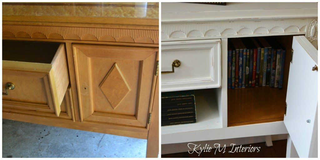 buffet painted cloud white before and after