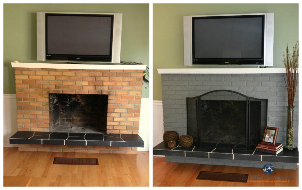 The Best Paint Colours To Update A Brick Fireplace