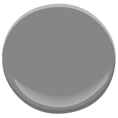 The best gray to update a brick fireplace, Sherwin Williams Gauntlet Gray