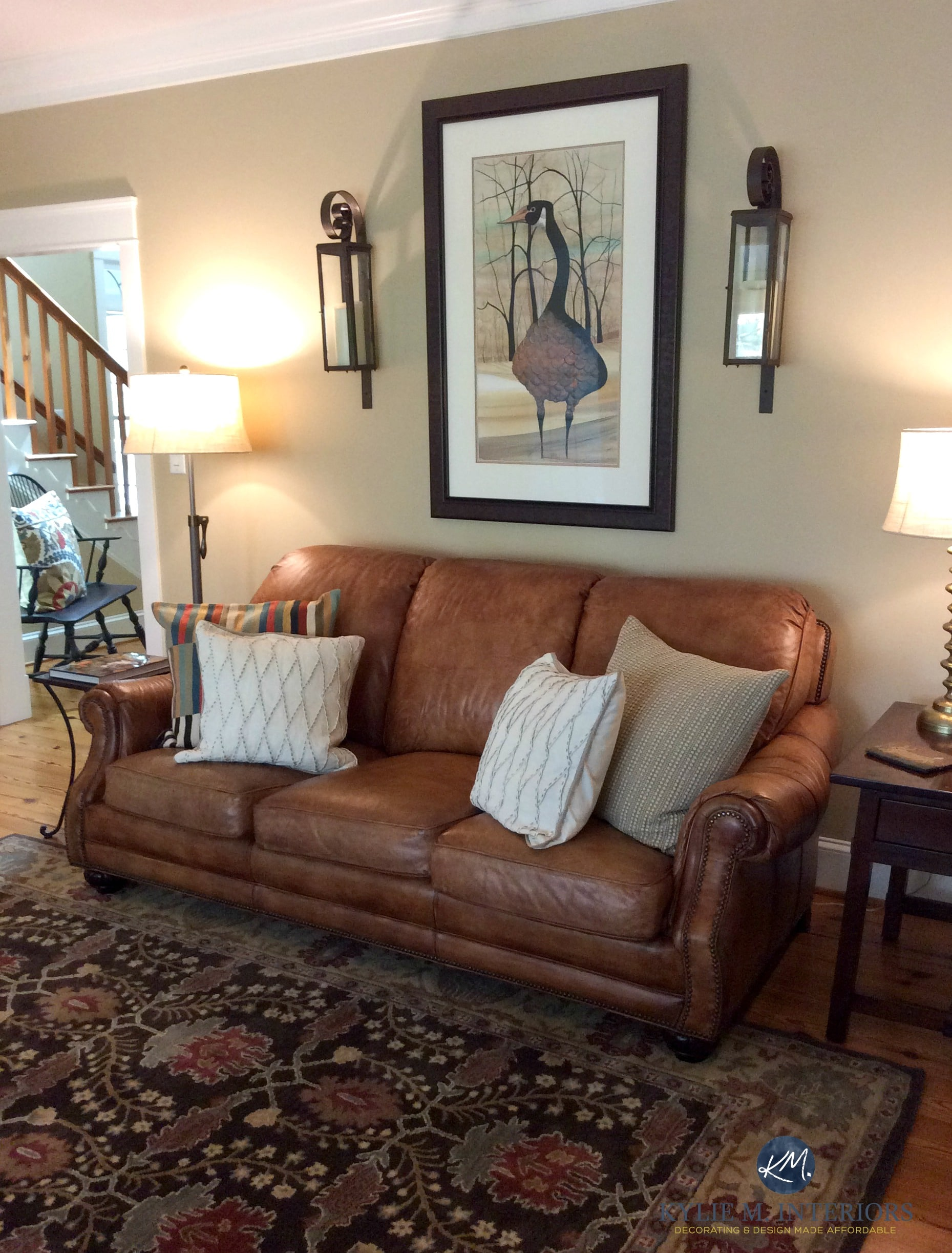 Lenox Tan Benjamin Moore In Farmhouse Warm Living Room