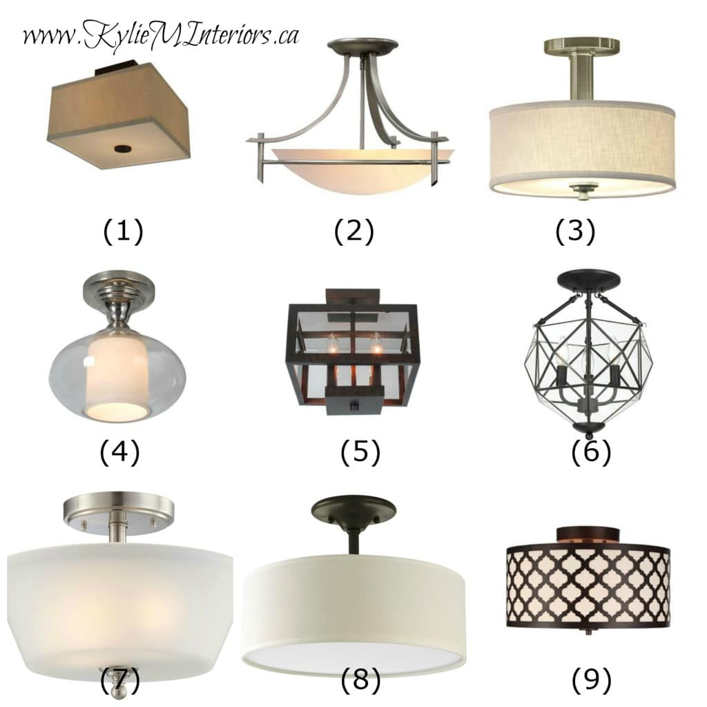 Ideas To Update Lighting On A Budget Using Flush Mount Light Fixtures In Hallways Entryways