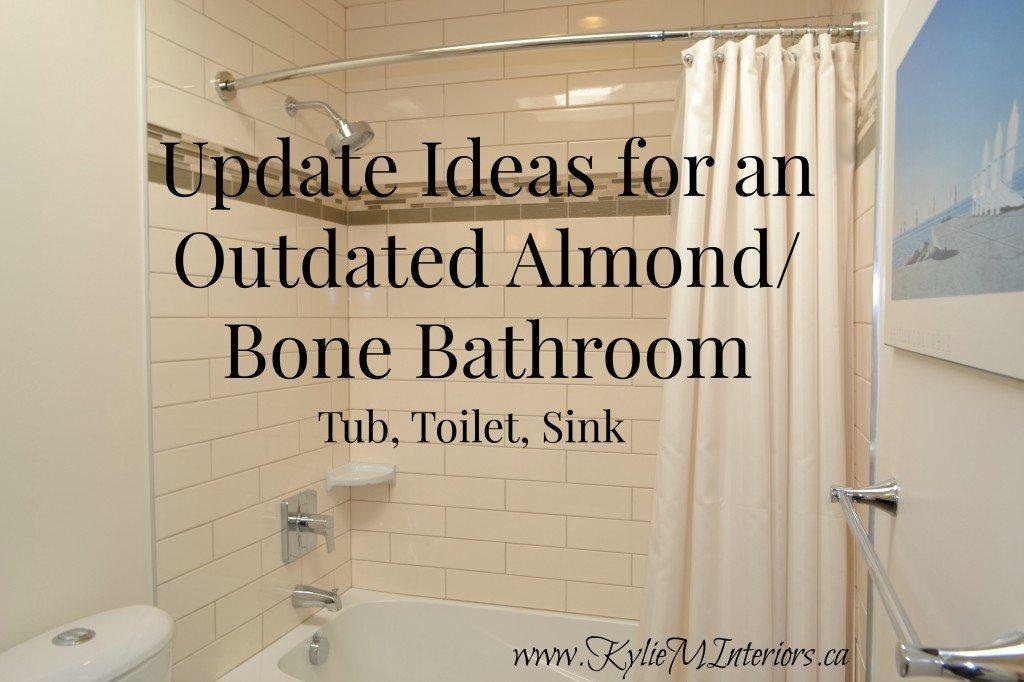 Update Ideas For An Almond Or Bone Bathroom Tub Toilet