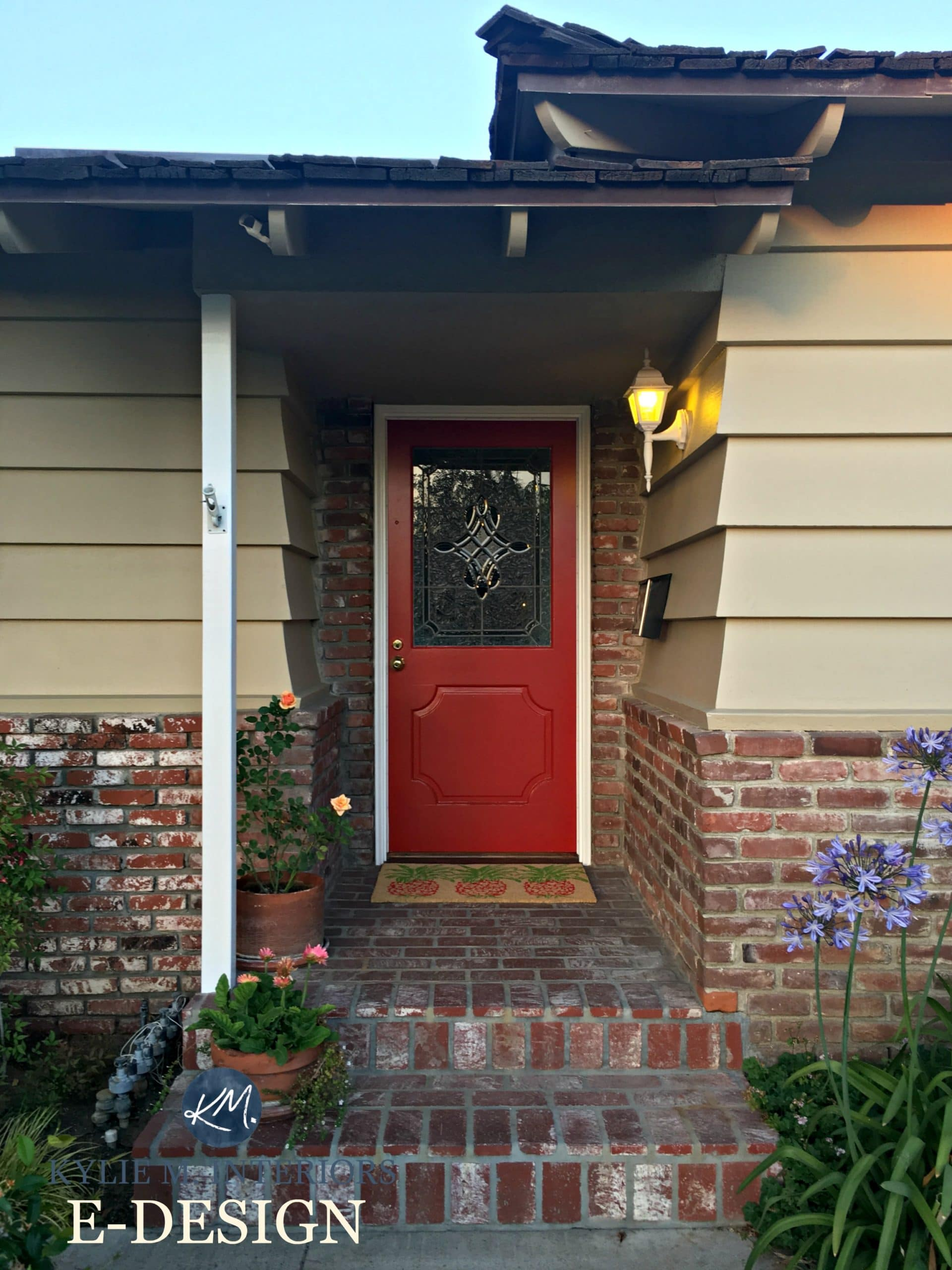 Exterior, Front Door Paint Colour Consultation With Kylie M Interiors  E Design And Online Color Consulting. Sherwin Williams Chinese Red With Red  Orange ...