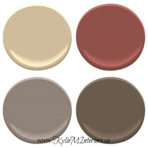 paint colours to complement benjamin moore stone house include boxcar red, smoked oyster and brown horse