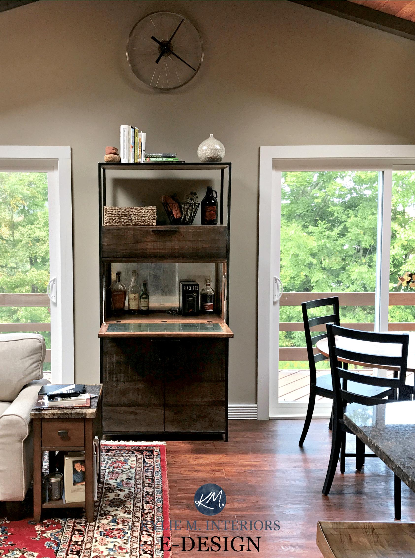 Benjamin Moore Pashmina, Best Mushroom Greige Paint Colour. Vaulted  Ceiling, Wood Furniture. KYlie M E Design