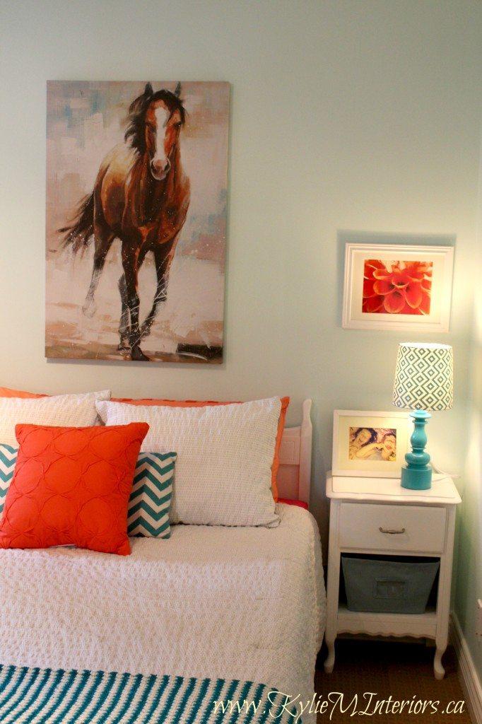 Budget Friendly Girls Bedroom Ideas Light Blue Coral Pink