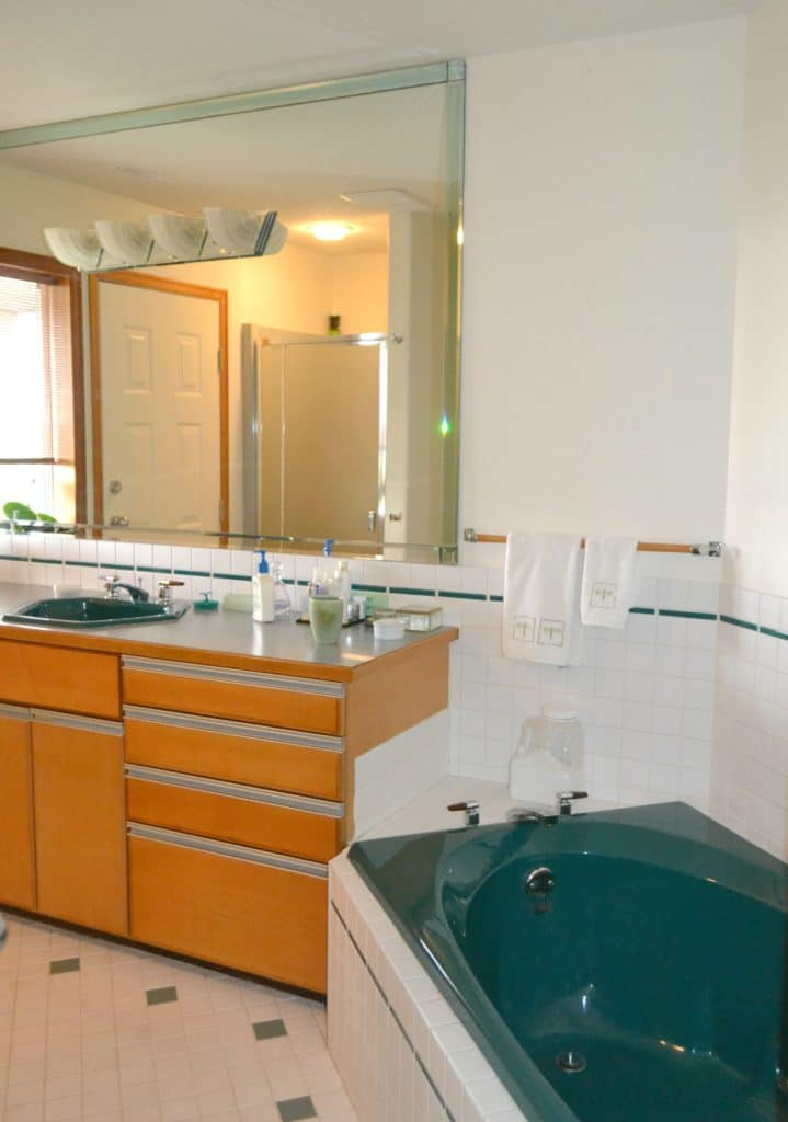How To Update And Modernize Forest Green Bathroom Fixtures Tile Carpet Countertop And More By