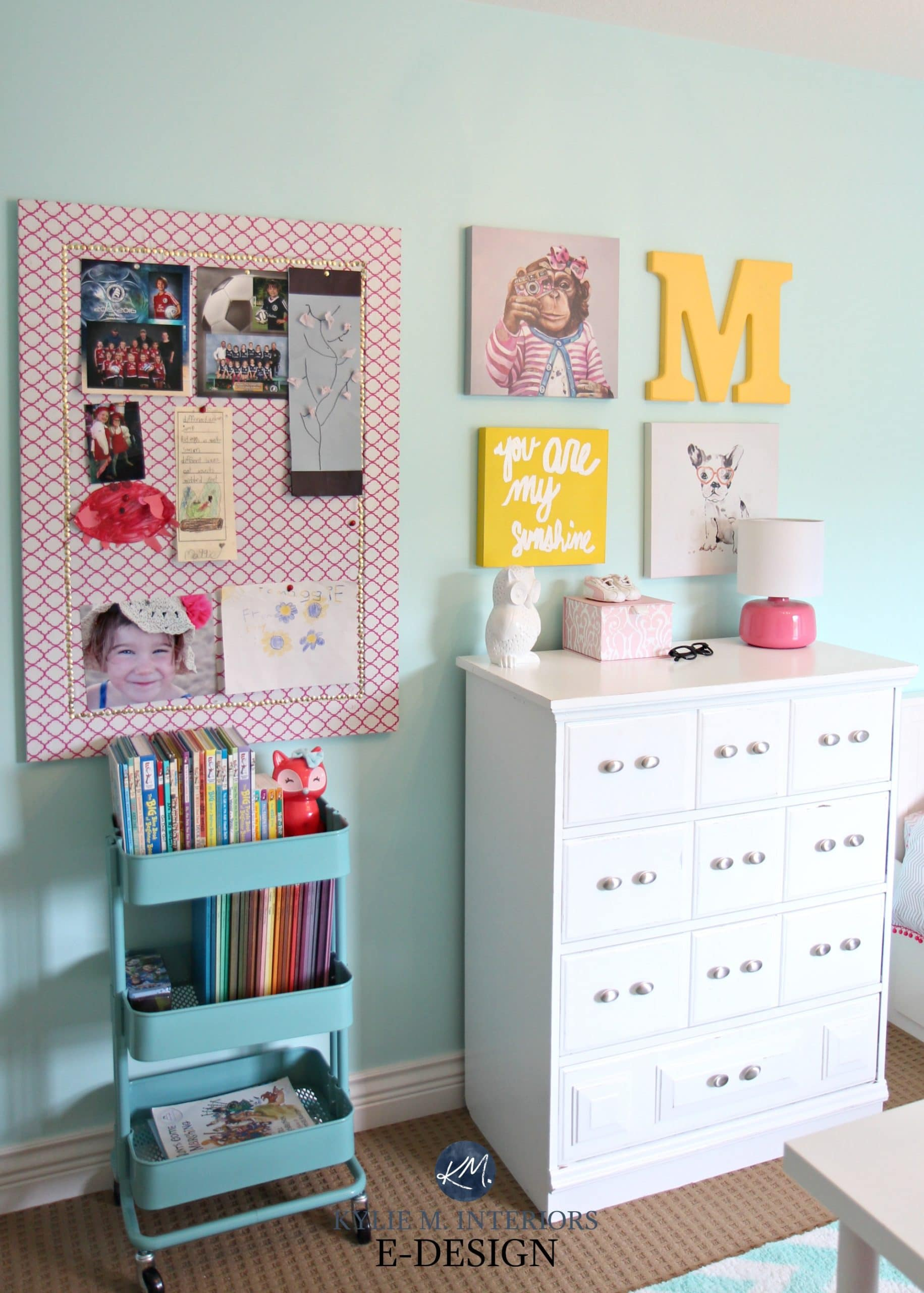 Ikea hack Raskog cart, girls bedroom decorating and storage ...