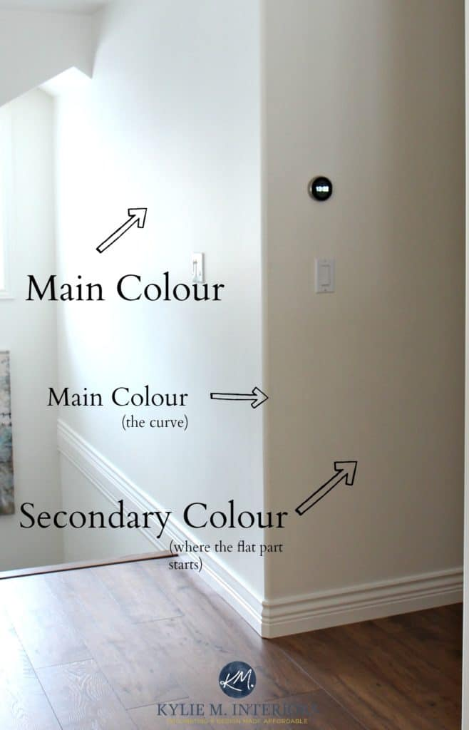 Tips and ideas for how to do 2 different colours with a bullnose or rounded drywall corner wall