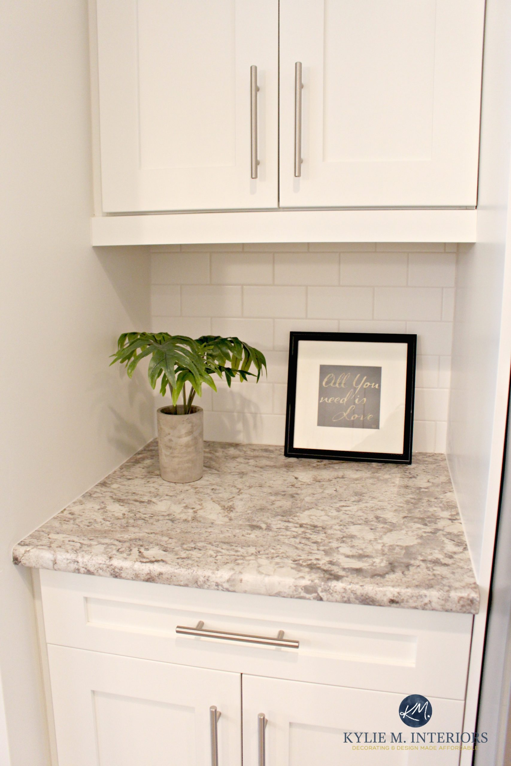 Autumn Carnival Countertop With Sherwin Williams Oyster White Paint