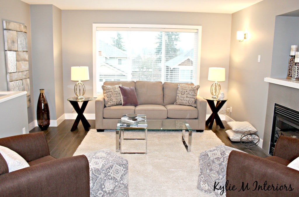 Home staging and decorating ideas for the living room with for Gray neutral living room