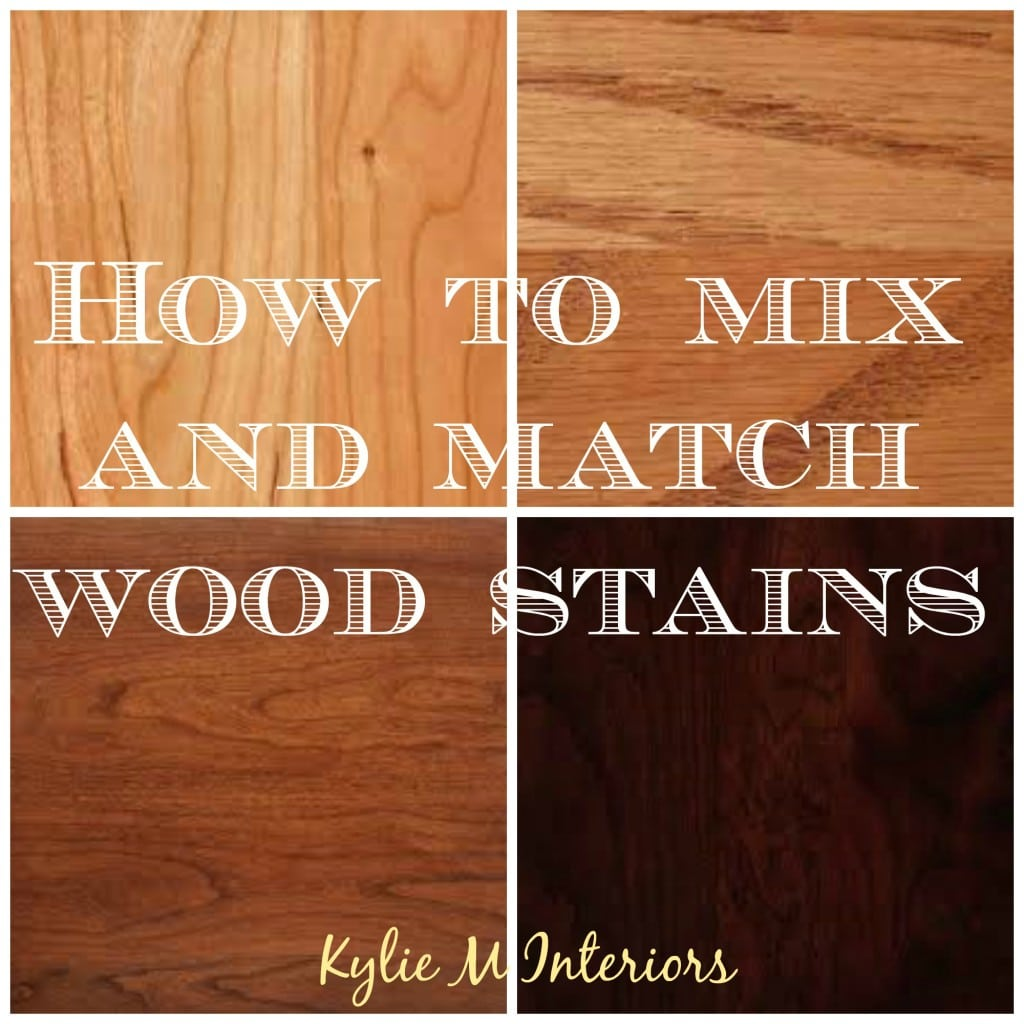 How To Mix, Match And Coordinate Wood Stains / Undertones