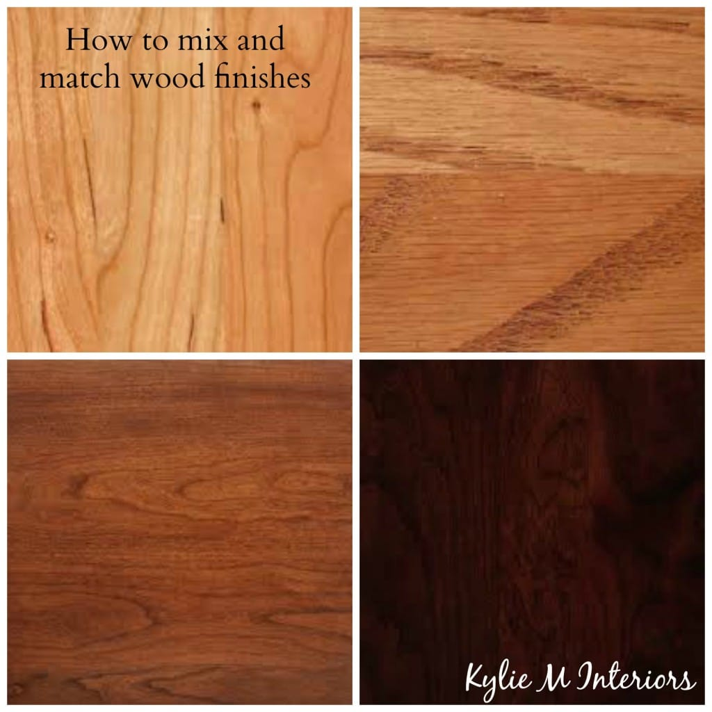 How to mix and match wood stains like cherry oak maple for Floors to match cherry cabinets