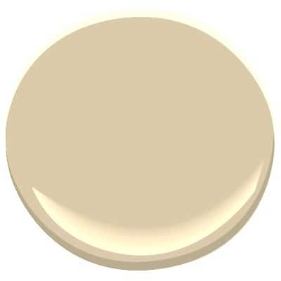 Benjamn Moore Monroe Bisque. Warm beige paint colour yellow undertones