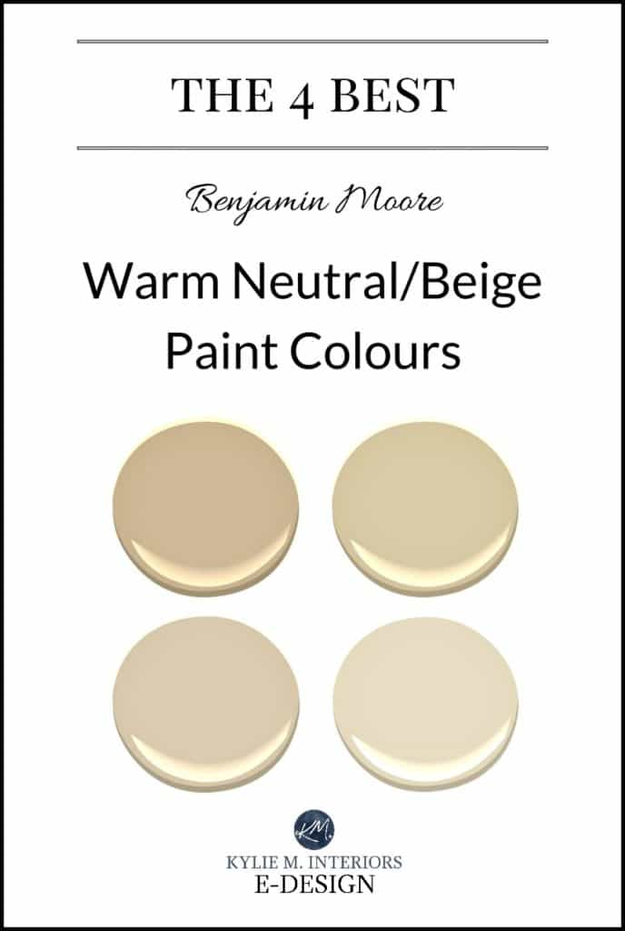The best warm neutral, beige or tan paint colours. Kylie M E-design