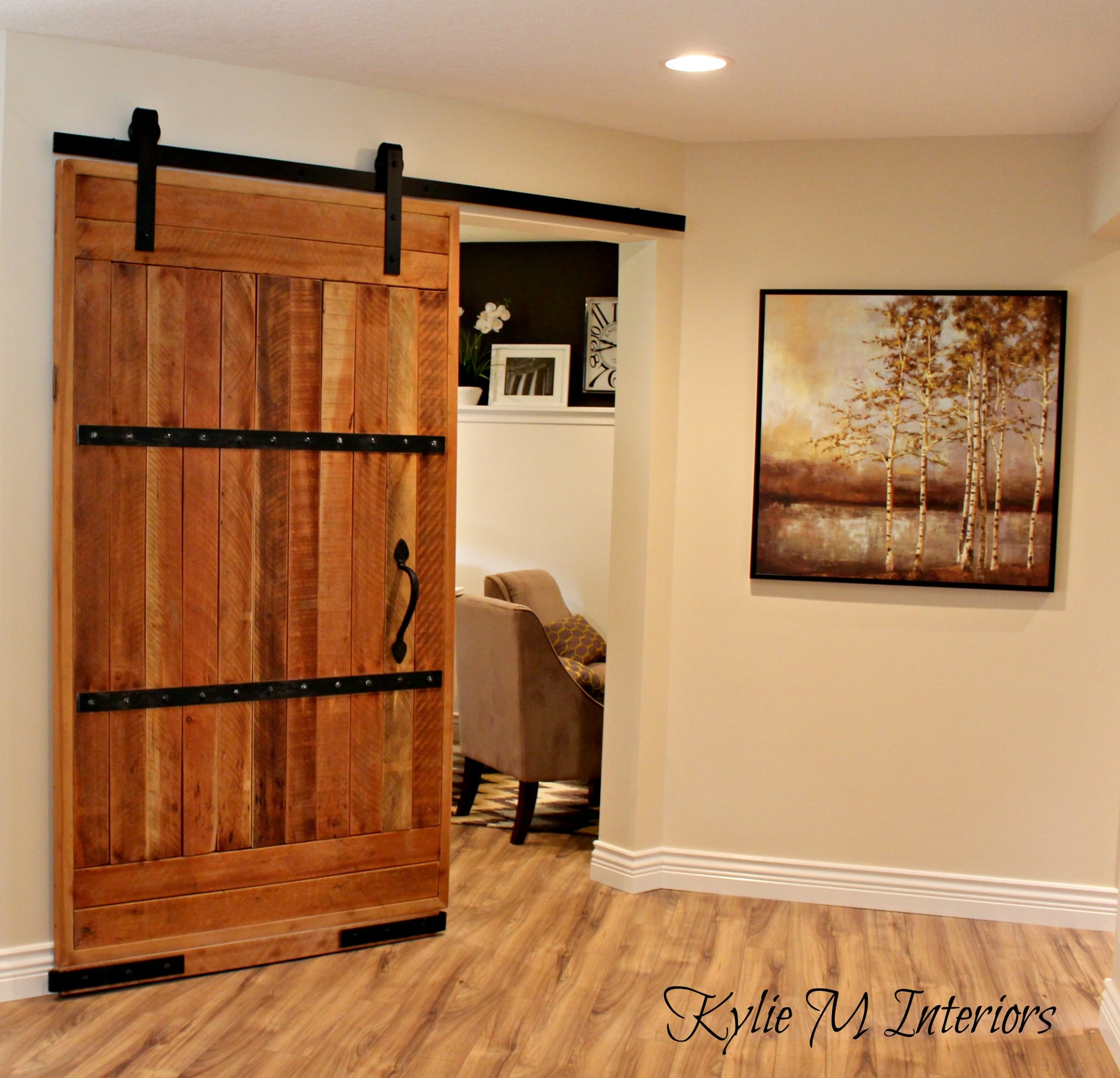 My new home office sliding barn door and more kylie m interiors - Home office door ideas ...