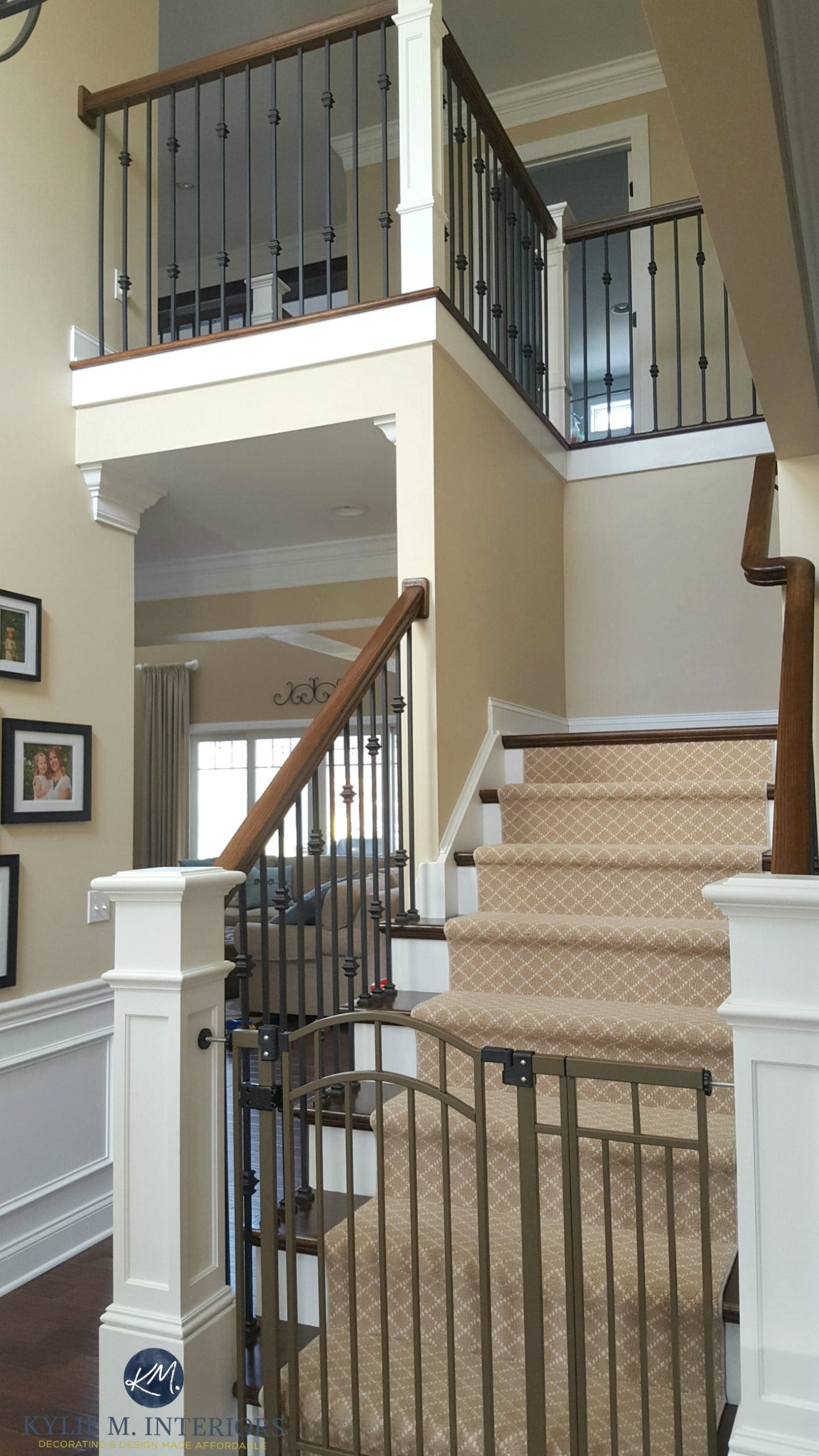 Sherwin Williams Kilim Beige In Stairwell And Hallway With