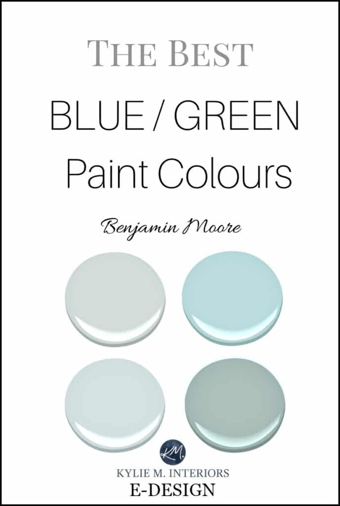 The best blue green, teal paint colours. Sherwin Williams and Benjamin Moore Kylie M E-design