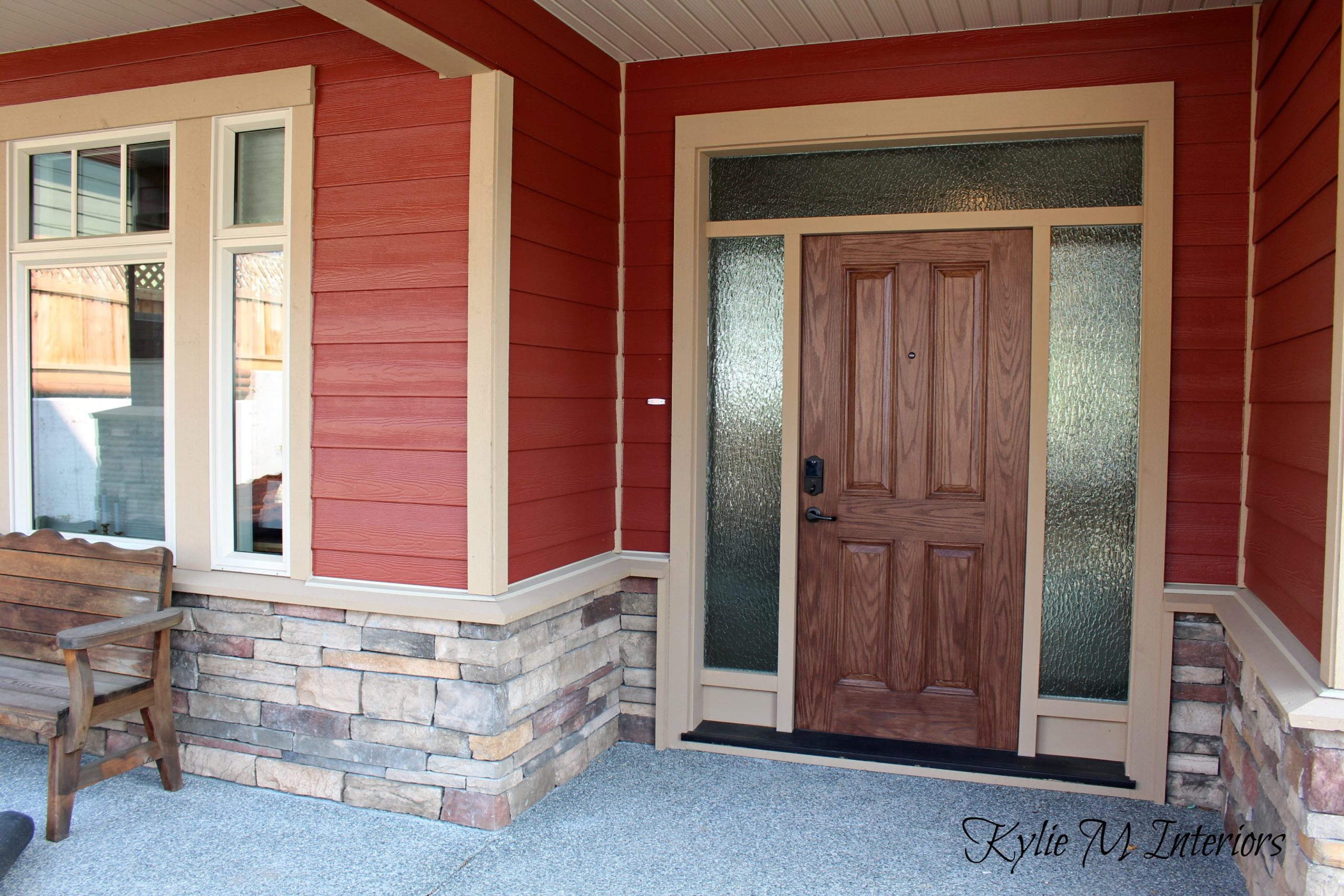 Brand new house exterior, countrylane red hardieplank, hardieboard with  JR09