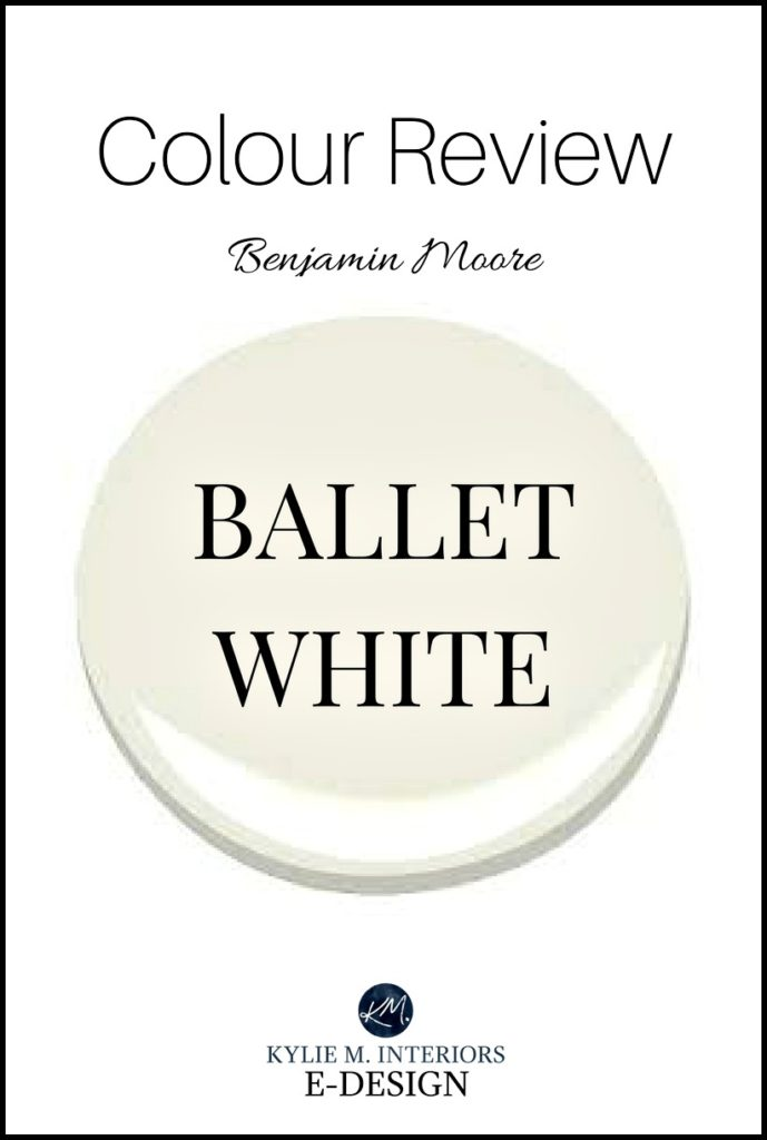 Paint colour review, Benjamin Moore Ballet White, warm neutral paint colour. Kylie M INteriors E-design, online paint color consultant