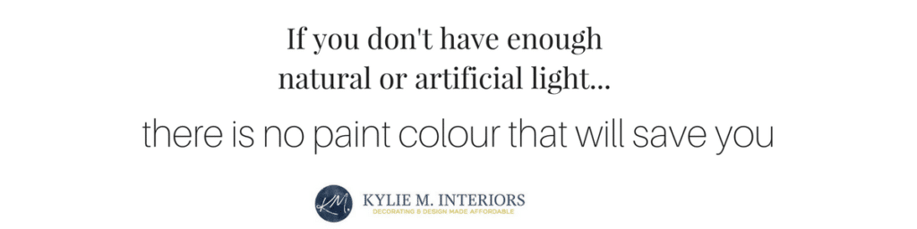 LRV and natural or artificial light with paint colours