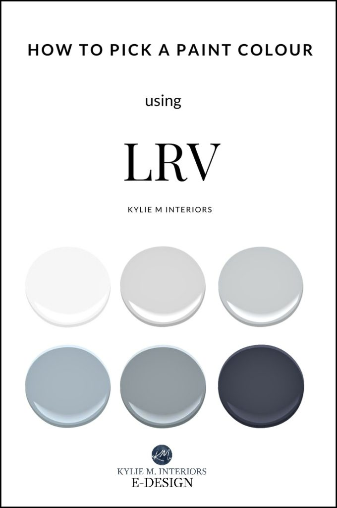 LRV and paint colours, lighten, darken how it affects them. Kylie M E-design, online color expert and consultant