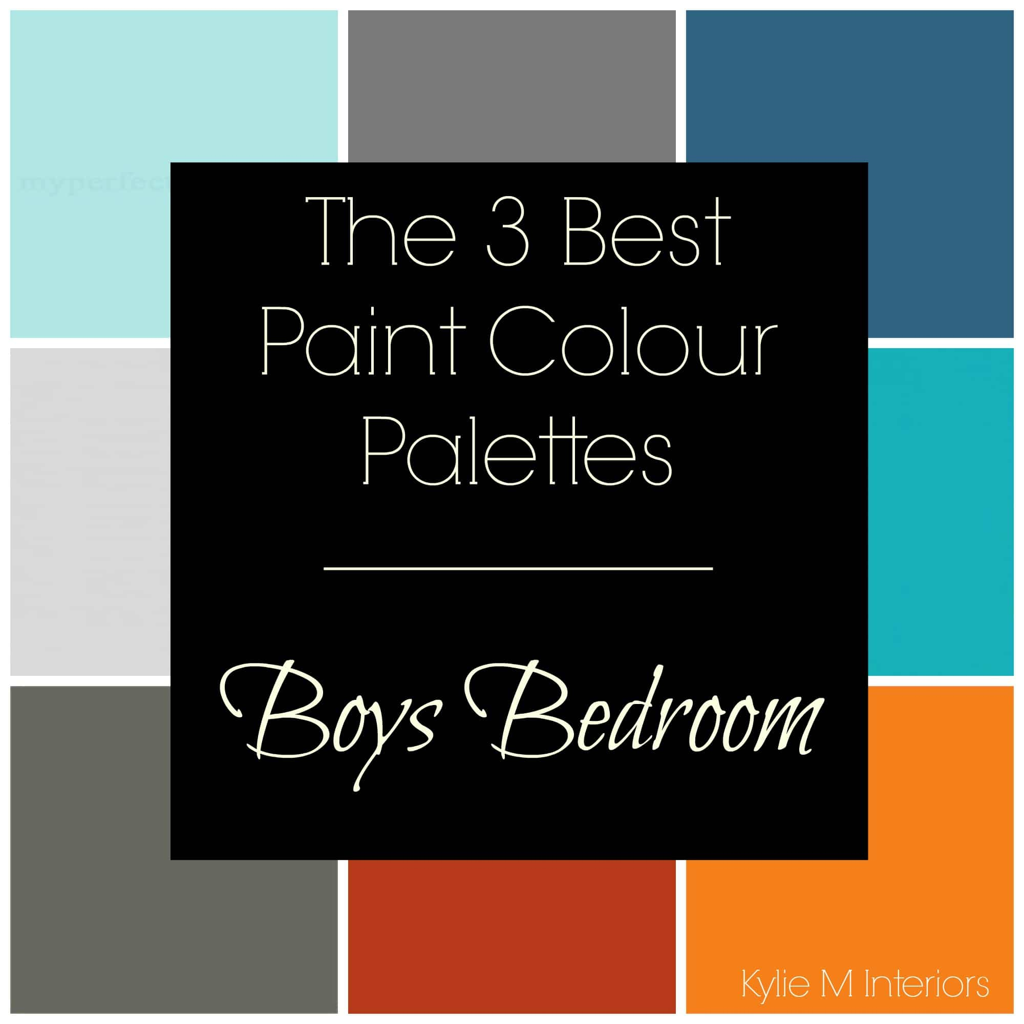 Image of: 3 Gray Paint Colour Palettes Boys Bedroom Benjamin And Sherwin