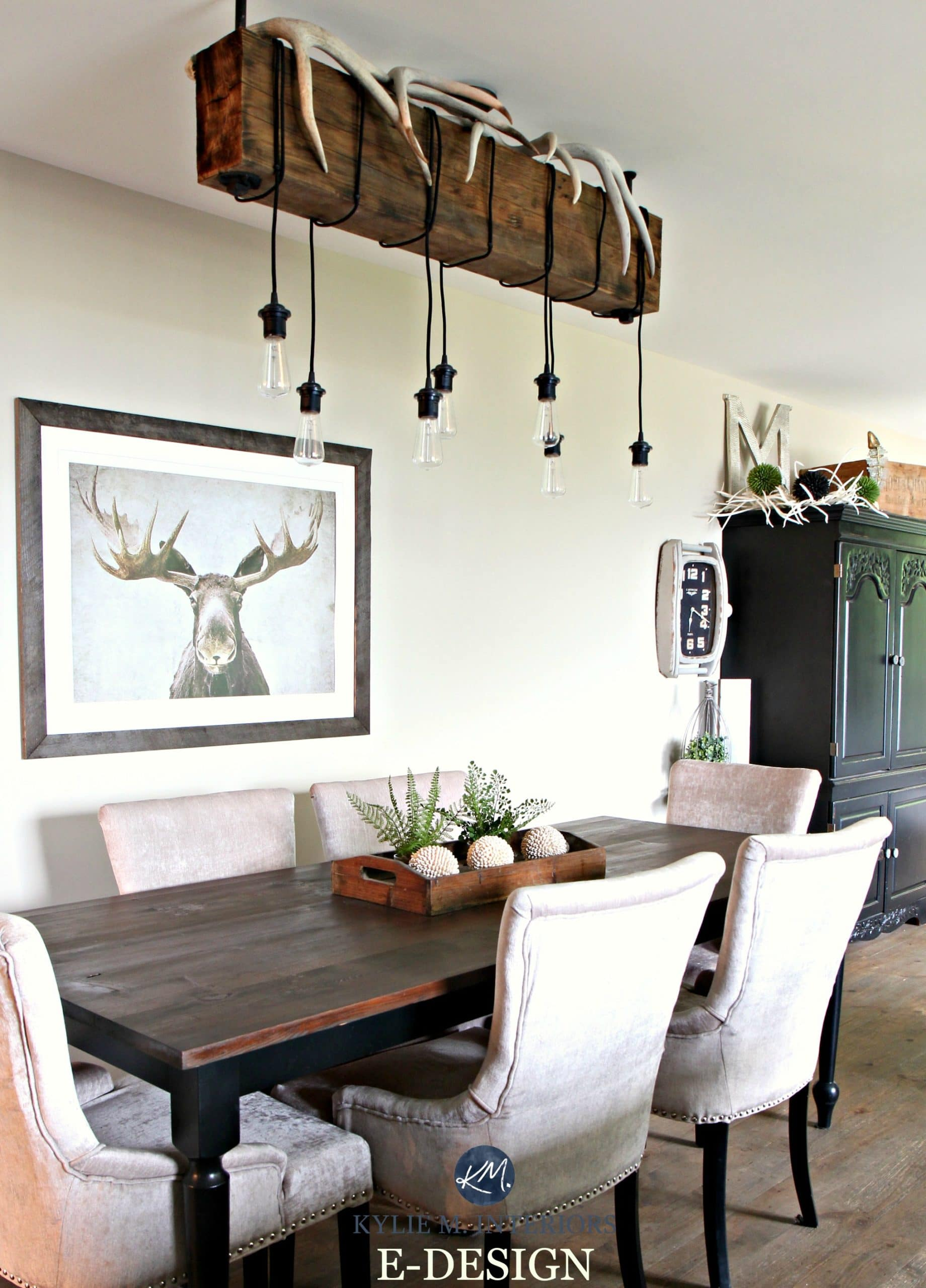 Home decor for a hunting home with farmhouse country style Rustic