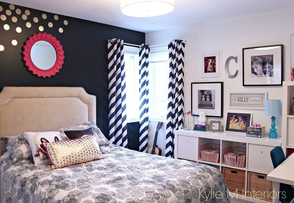 Tween or teen color and decorating ideas black and for Black and pink teenage bedroom ideas