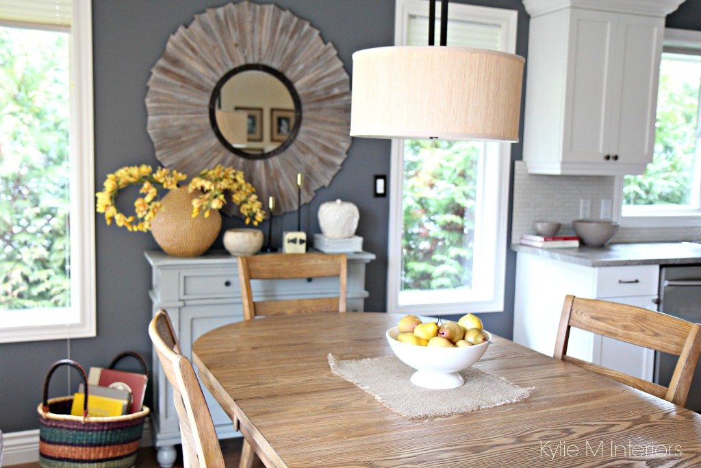 Modern farmhouse or country style dining room with home decor for Stylish home decor