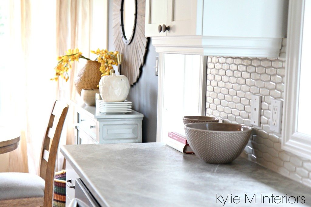 Soapstone Sequoia Formica Countertops With Cloud White