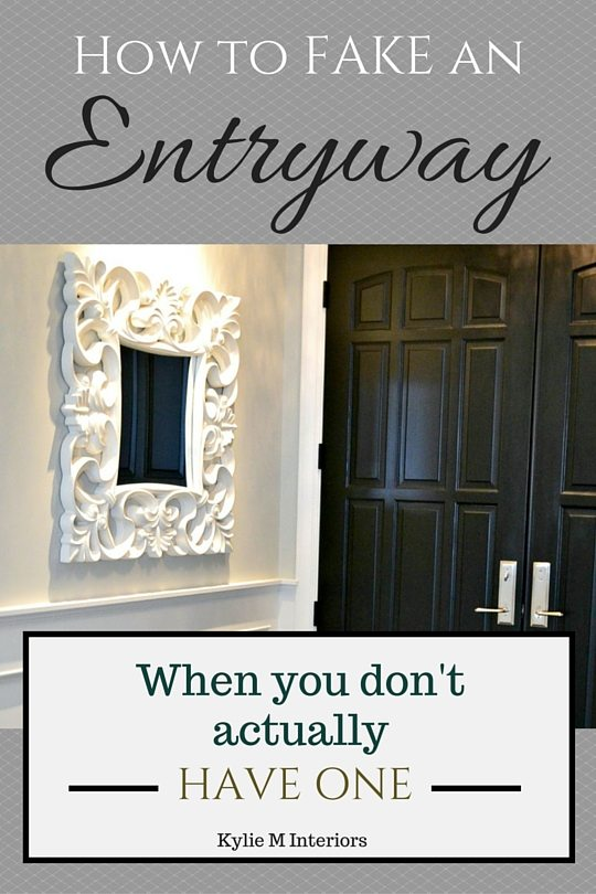 Design You Room: 4 Ideas: How To MAKE An Entryway When You Don't Have One
