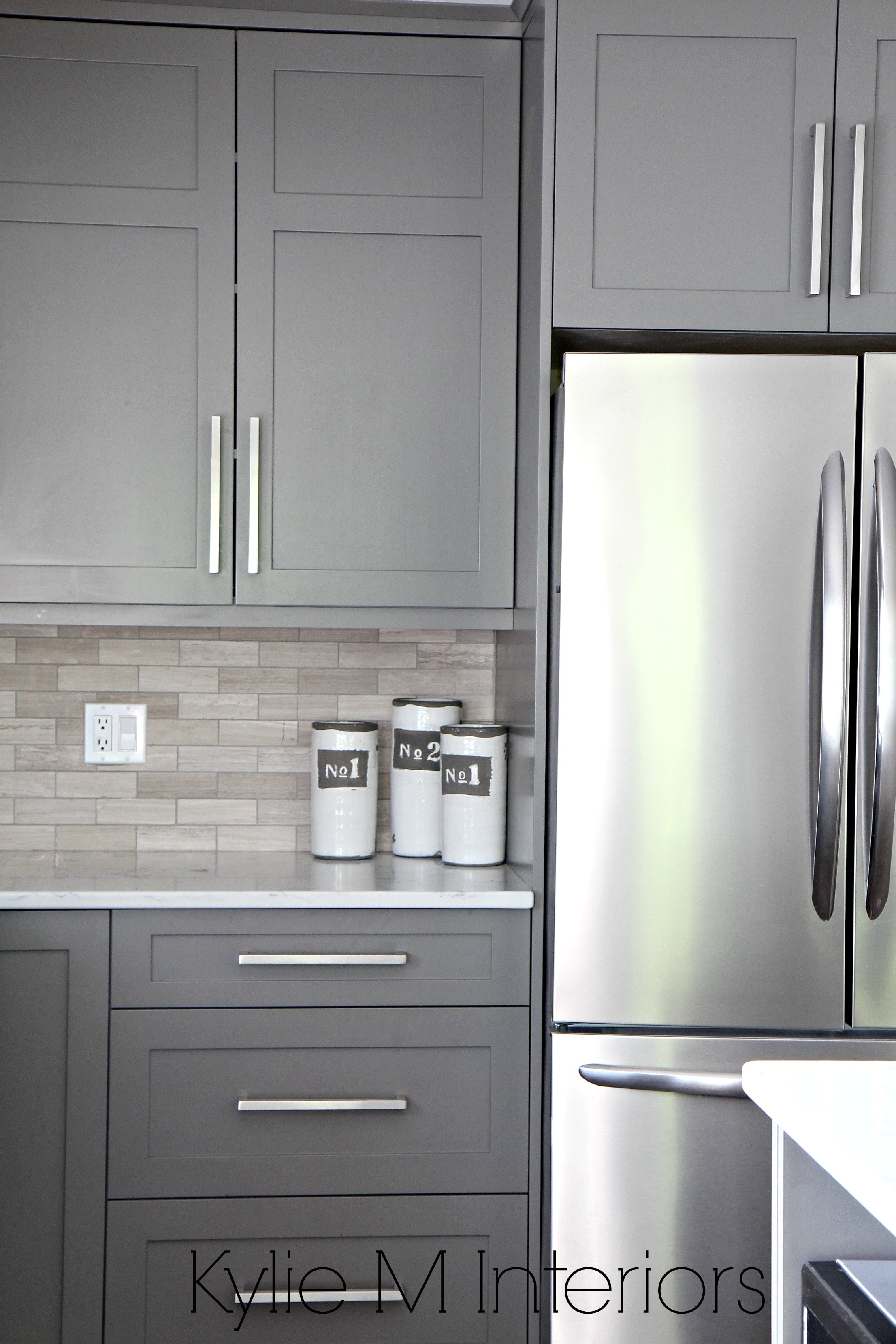 Kitchen Cabinets Paitned Benjamin Moore Amherst Gray