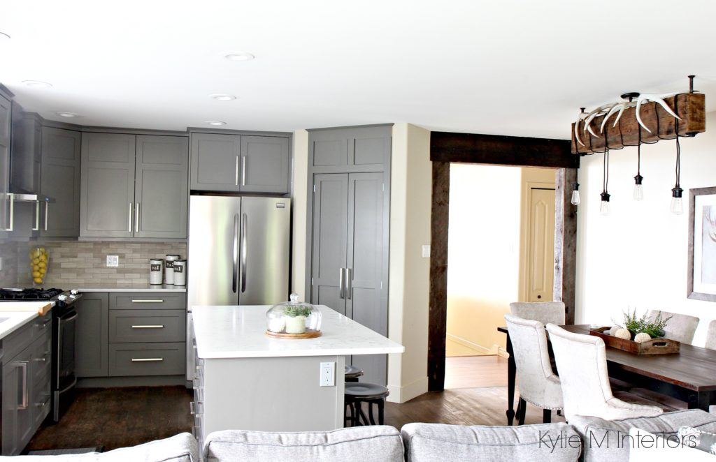 The Best Gray And Greige Colours For Cabinets And Vanities - Light gray painted kitchen cabinets
