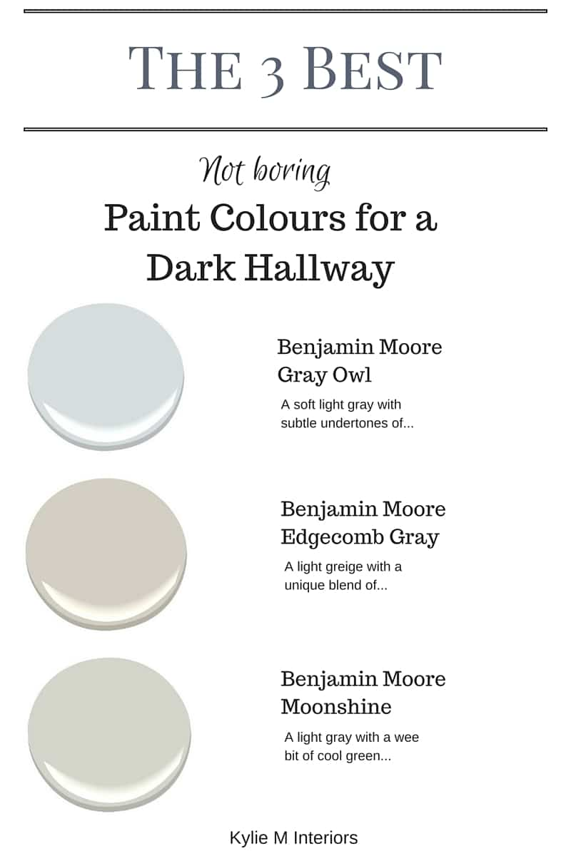 the 3 best not boring paint colours for a dark hallway or stairwell by