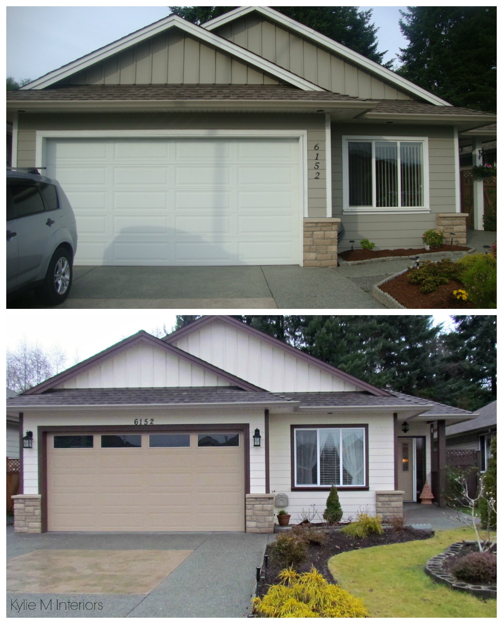 Exterior Home Painting: Before And After Exterior Color Palette On A Small Ranch