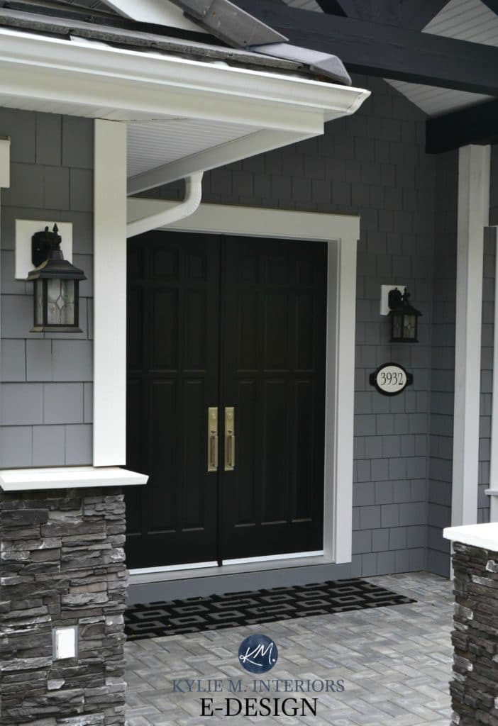 Exterior Paint Palette. Similar To Benjamin Moore Dior Gray. Sherwin  Tricorn Black, White Part 76