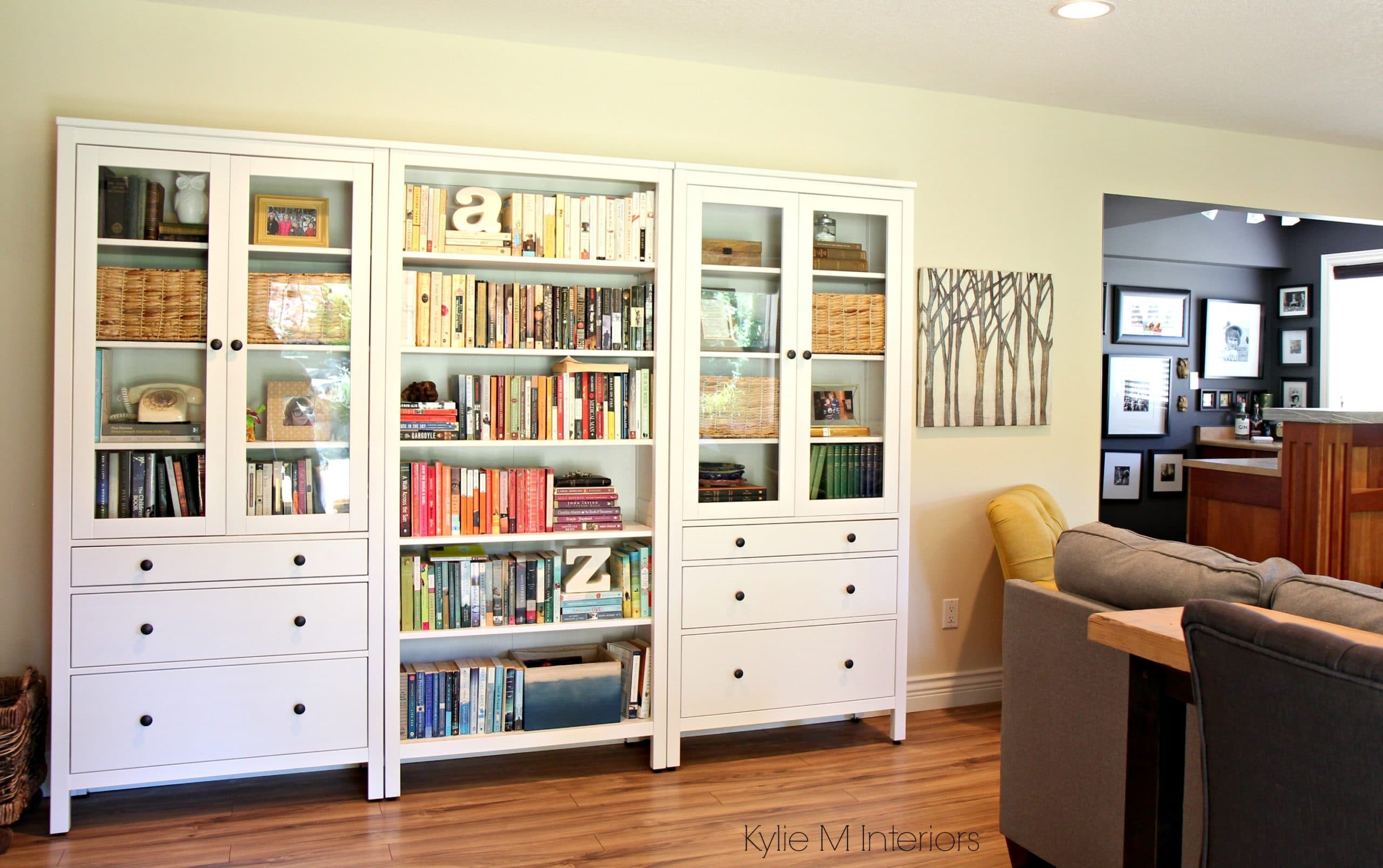 how to decorate a long wall ikea hemnes bookcase