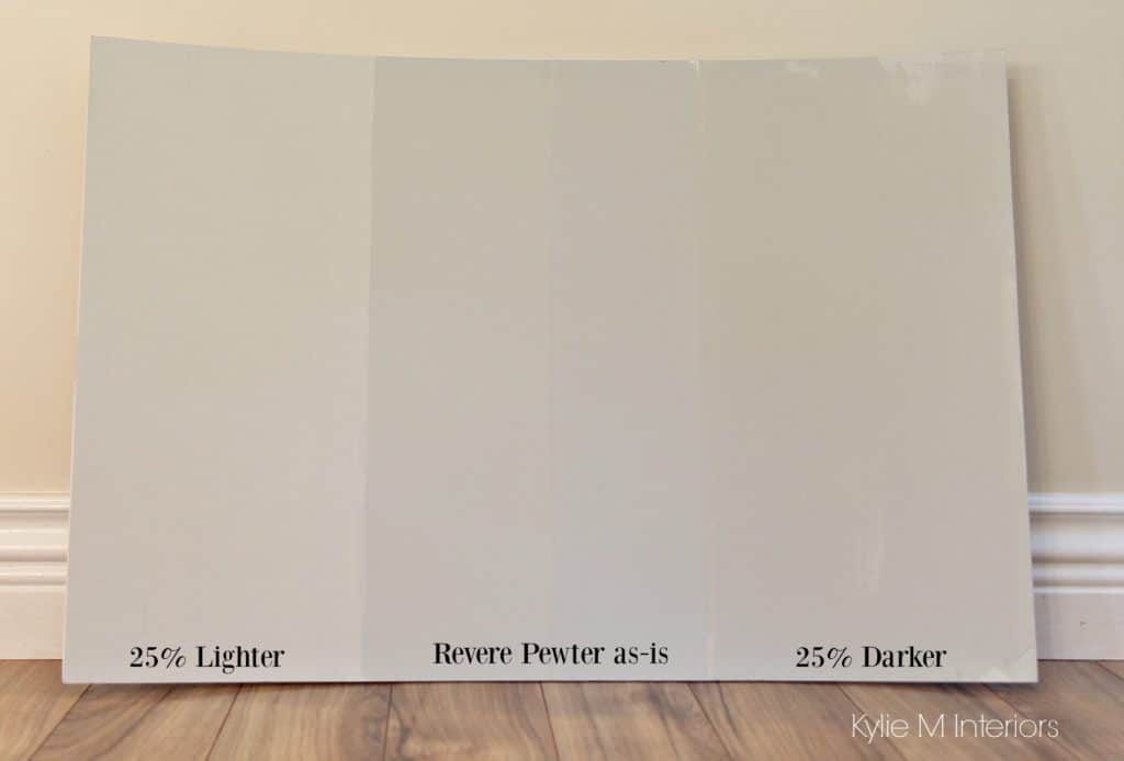 How to lighten and darken a paint colour benjamin moore revere pewter