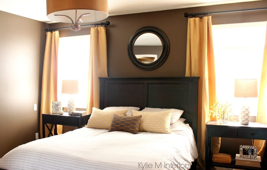 Dark Bedroom Paint Colour Benjamin Moore Brown Horse With Gold And Yellow Accents Dark Wood