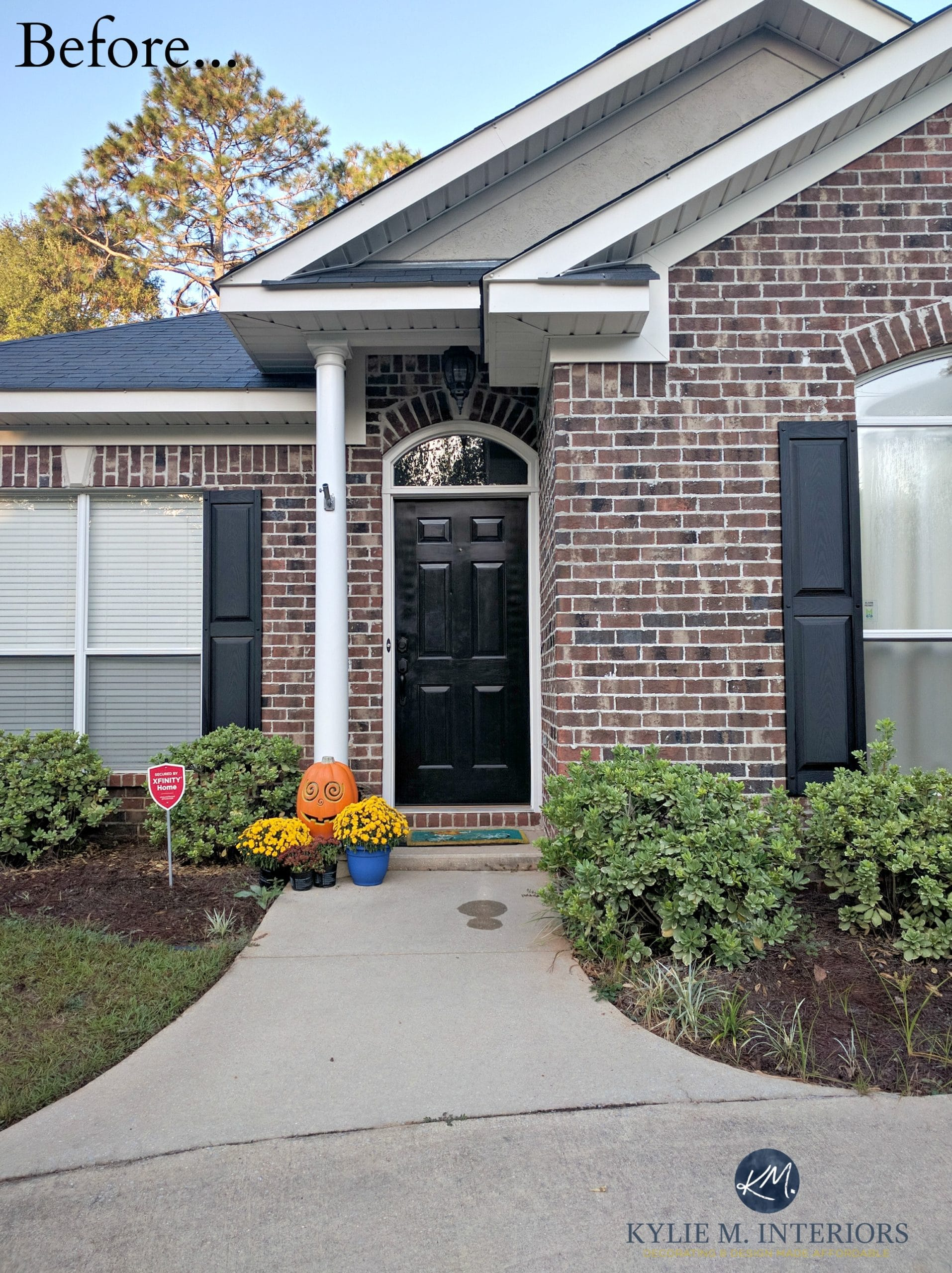 exterior-brick-with-black-shutters-and-front-door-before-online ...